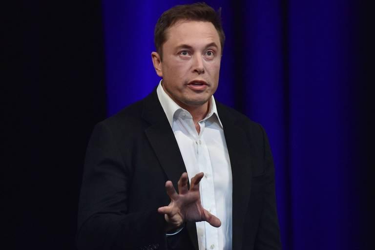 Elon Musk em congresso em Adelaide, nos Estados Unidos