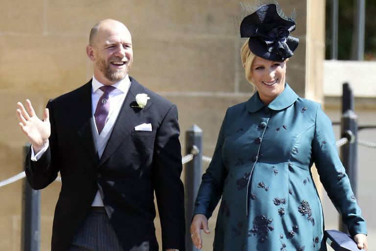 Mike e Zara Tindall chegam para casamento do príncipe Harry com Meghan Markle