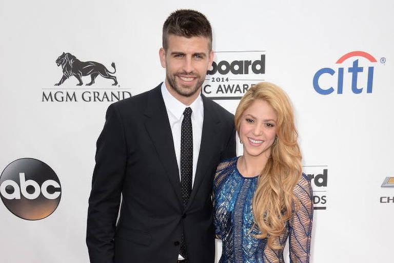 Shakira e o jogador espanhol Piqué