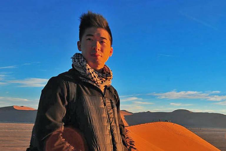 Calvin Sun avisa a outros viajantes para ficarem longe de área proibida a turistas no 5° andar de um hotel 5 estrelas