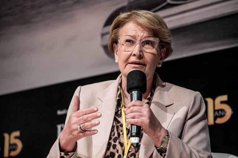 A senadora Ana Amélia (PP-RS) em seminário em Brasília