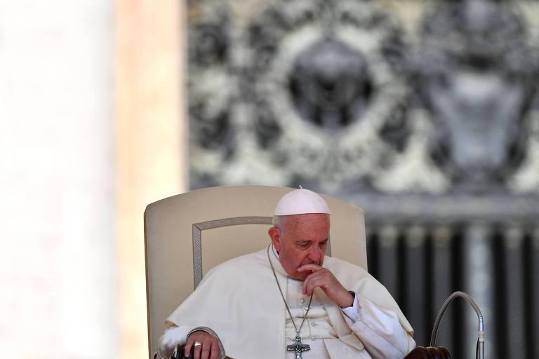 O papa Francisco durante audiência no Vaticano nesta quarta (20)