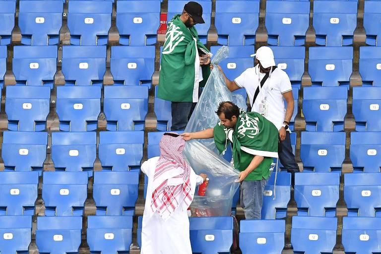 Imagens do dia da Copa do Mundo