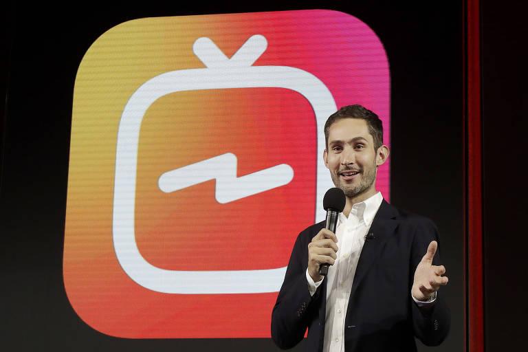 CEO e co-fundador do Instagram, Kevin Systrom, anuncia o IGTV - Associated Press