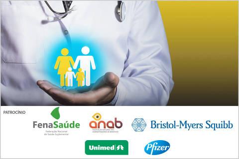 imagem com logos do Fórum saúde suplementar