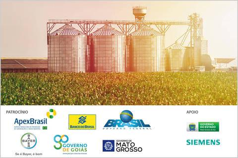 Imagem com logos do Fórum Agronegócio sustentável