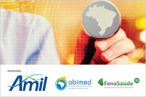 imagem com logos do 4º Fórum de saúde do Brasil