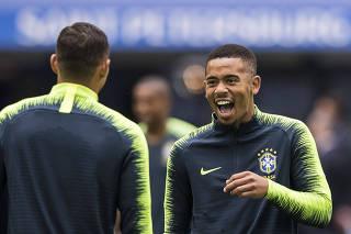 Copa Russa 2018. Selecao Brasileira faz treino de reconhecimento de gramado no estadio de Sao Petersburgo.