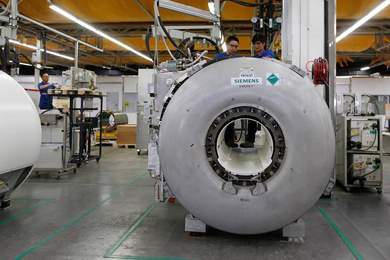 Fábrica da multinacional Siemens em Jundiaí (SP) tem retorno positivo de investimento em projeto social; na foto, fábrica da empresa na China