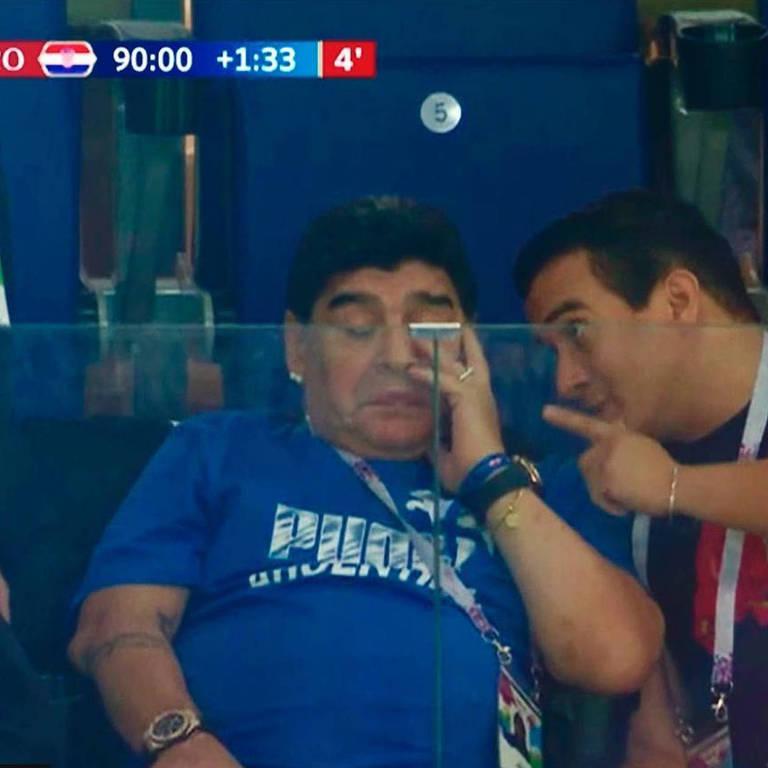 Tristeza dos torcedores argentinos