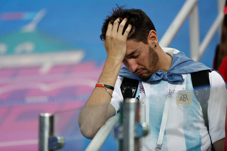 Argentino lamenta derrota de 3 a 0 da Argentina para Croácia