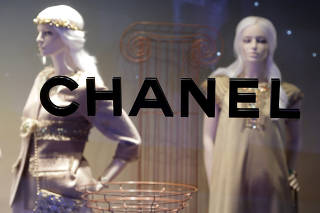 FILE PHOTO: Chanel logo is seen on the company's store in Monte Carlo