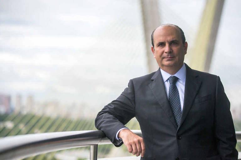 O presidente da FenaPrevi, Edson Franco, em entrevista à Folha em 2017