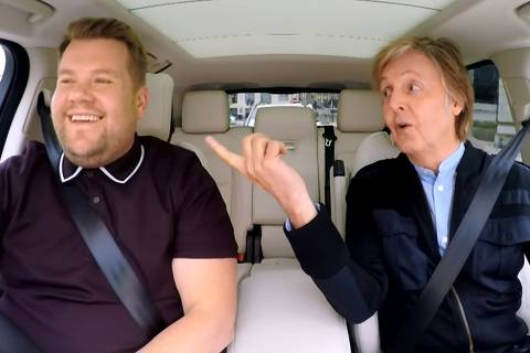 O cantor Paul McCartney participa do 'Carpool Karaoke', de James Corden
