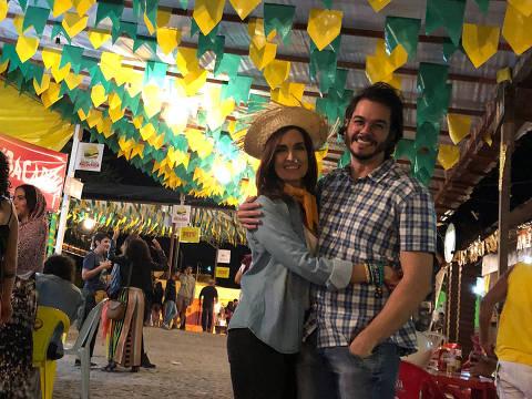Fátima e Túlio aproveitam festa junina em Arcoverde, no interior de Pernambuco