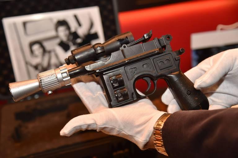 """Arma utilizada em """"Star Wars: O Retorno de Jedi"""""""