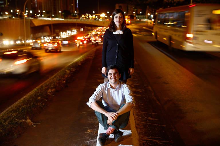 Tábata Amaral e Renan Ferreirinha, 24, que criaram o movimento Acredito