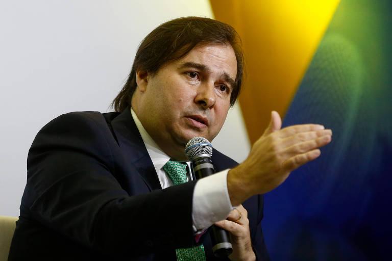 Rodrigo Maia (DEM-RJ), durante sabatina do jornal Correio Braziliense, em Brasília