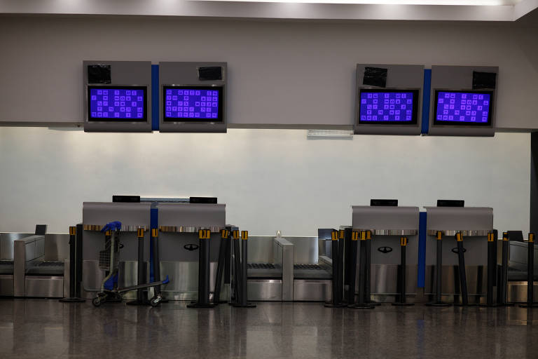 The Jorge Newbery airport is seen empty during a 24-hour national strike in Buenos Aires