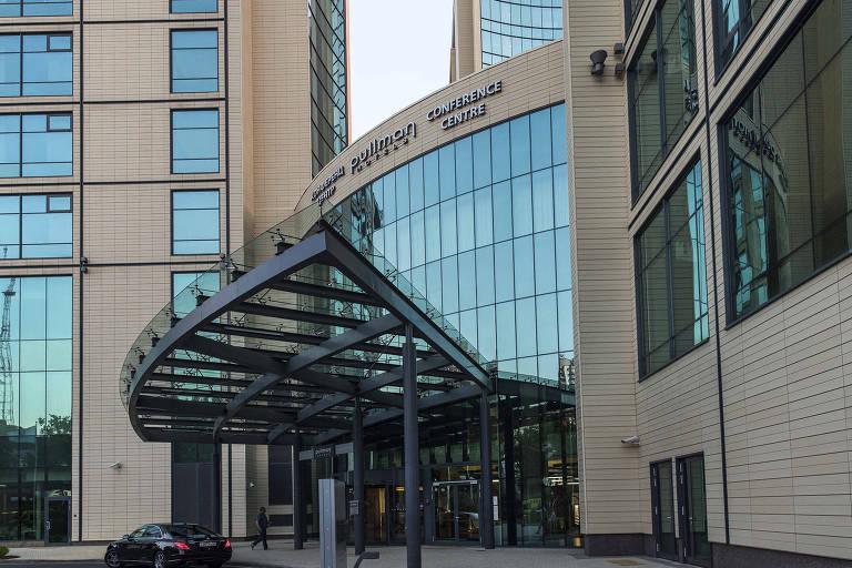 O hotel Pullman,  localizado no centro de Sochi, onde estão familiares dos jogadores da seleção brasileira