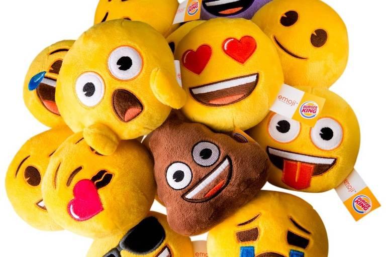 Emojis viram pelúcias em brindes do Burger King