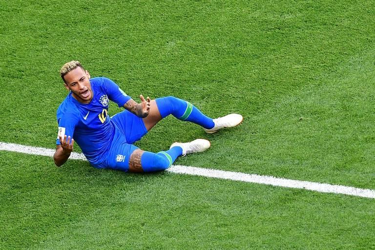 Neymar durante vitória do Brasil pór 2 a 0 contra a Costa Rica