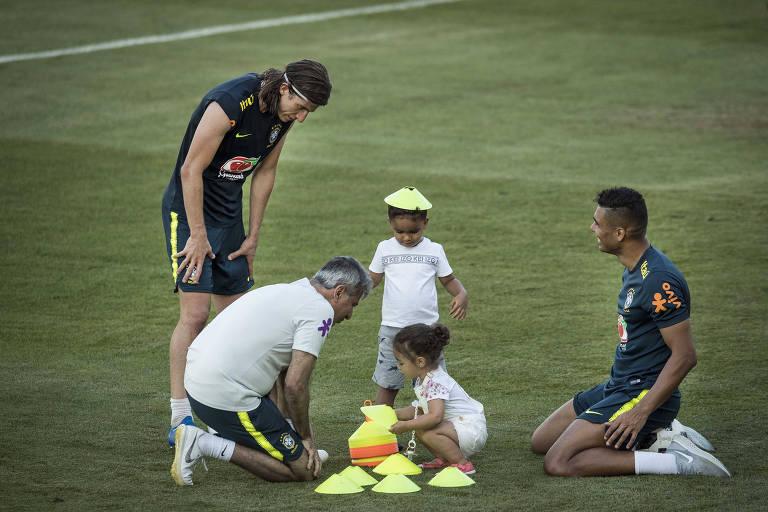 Familiares de jogadores da seleção brasileira na Rússia