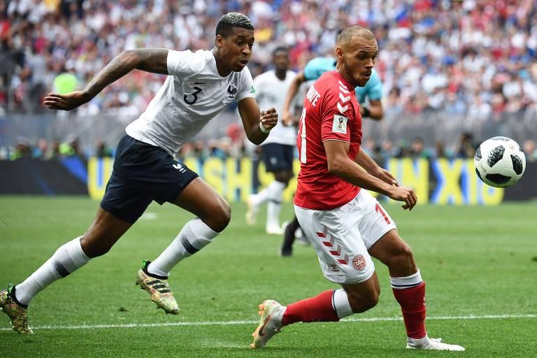 França e Dinamarca não saíram do zero no Estádio Lujniki, em Moscou