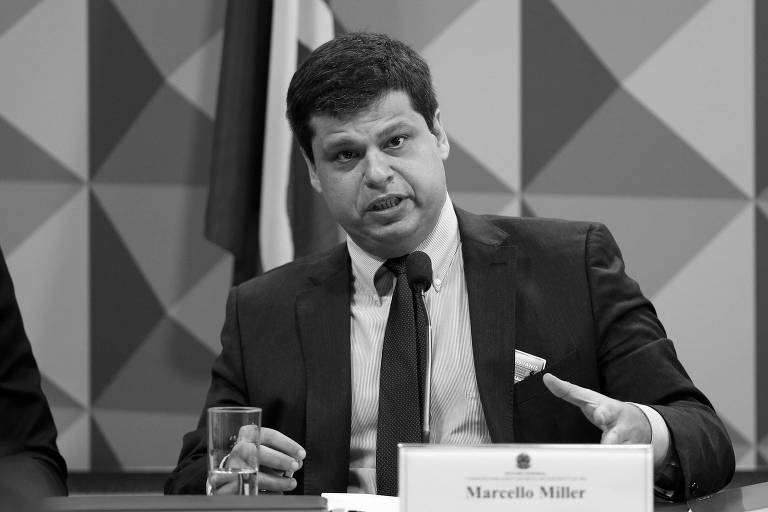 O ex-procurador Marcello Miller durante depoimento na CPI da JBS, em Brasília, em novembro do ano passado