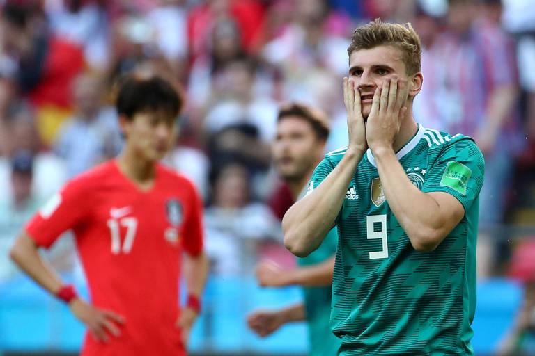 Timo Werner lamenta chance perdida