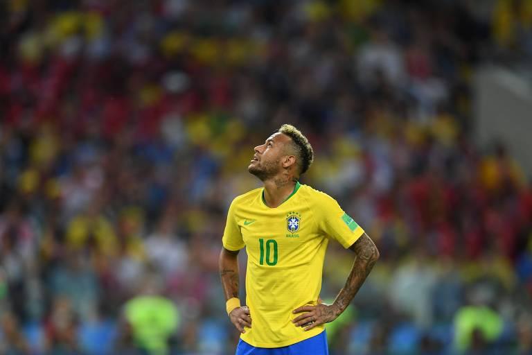 Neymar durante a partida no estádio Spartak