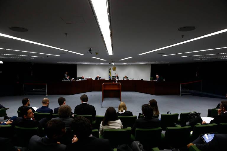 Sessão plenária da 2ª Turma do STF, que abolsveu a senadora Gleisi Hoffmann (PT) e seu marido, Paulo Bernardo, de acusação pela Lava Jato