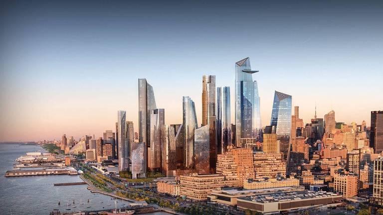 Projeto do complexo Hudson Yards, em Nova York