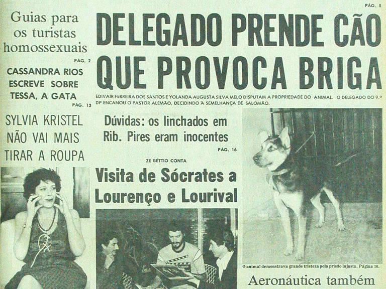 Manchete do Notícias Populares publicada em 15 de janeiro de 1982