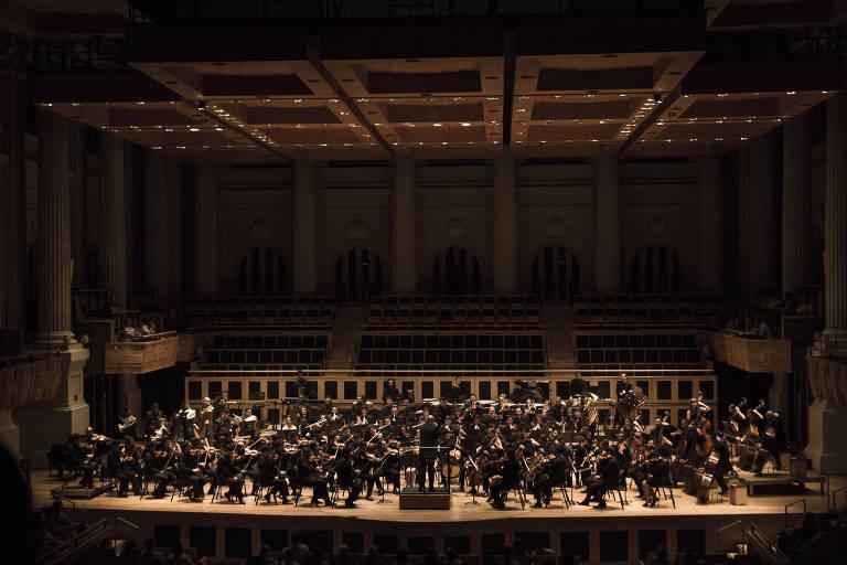 Apresentação da Orquestra Jovem do Estado, grupo que integra a programação do 49º Festival de Inverno de Campos do Jordão