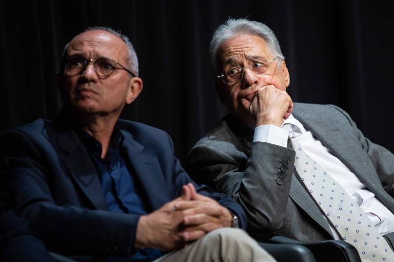 O ex-presidente Fernando Henrique Cardoso (PSDB) e Paulo Hartung, governador do Espírito Santo (MDB), durante evento pela união do centro