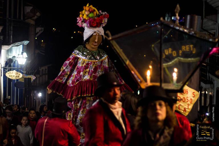 A seresta do grupo Saudade de Ouro Preto, que percorre as ruas da cidade durante o Festival de Inverno de Ouro Preto e Mariana - Fórum das Artes; edição 2018 do evento começa na sexta (6/7)