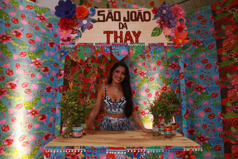 Thaynara OG, a Thay, no seu São João da Thay, arraial beneficente que reuniu famosos em São Luis, no Maranhão