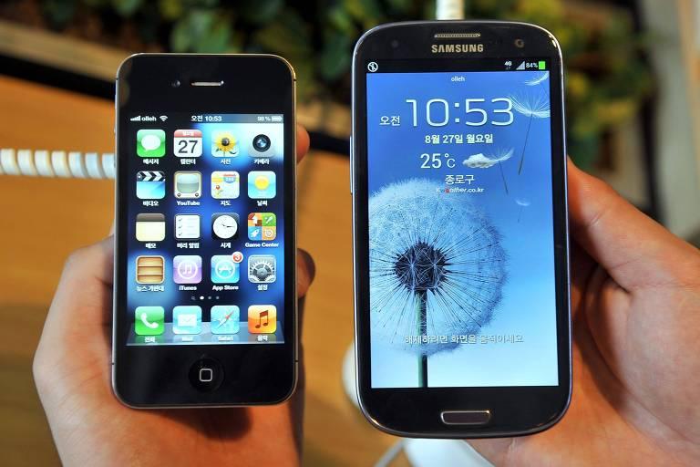 Smartphone da Apple e da Samsung