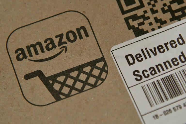 Pacote de entrega da Amazon