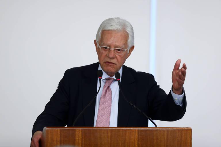 O ministro de Minas e Energia, Moreira Franco, em evento no Palácio do Planalto