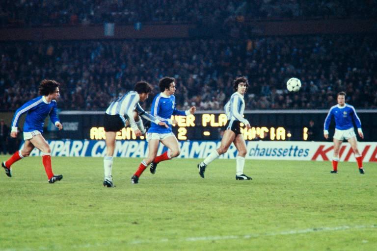França e Argentina se enfrentaram pela Copa do Mundo de 1978, em Buenos Aires