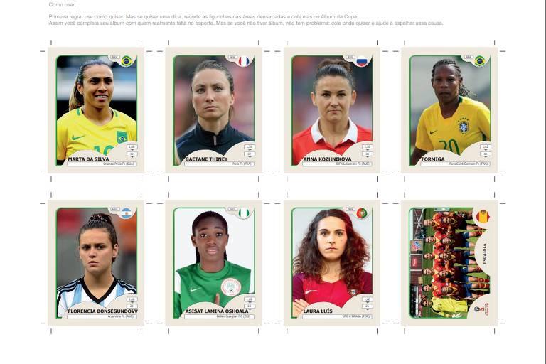 Criadora de figurinhas da Copa de futebol feminino diz que ideia é ... 1457936a9d8ab