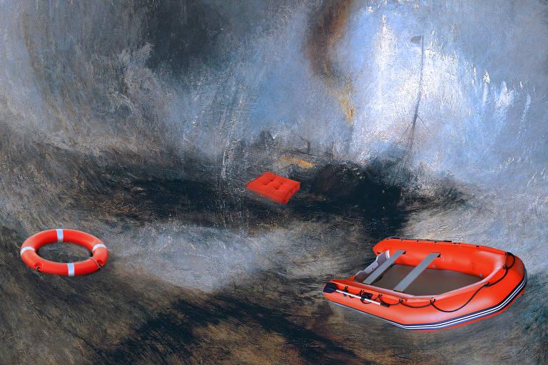 Ilustração de Zé Vicente para o caderno sobre seguros