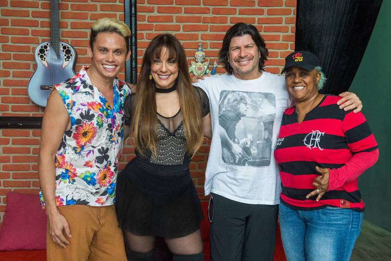 Silvero Pereira, Helga Nemeczyk, Paulo Ricardo e Sandra de Sá, os integrantes do Grupo 2 do 'Show dos Famosos'