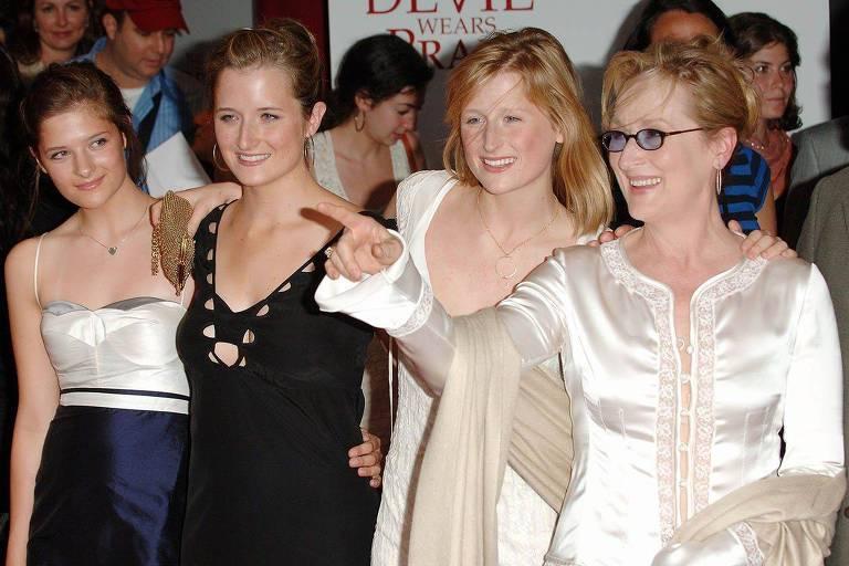 Meryl Streep e as filhas
