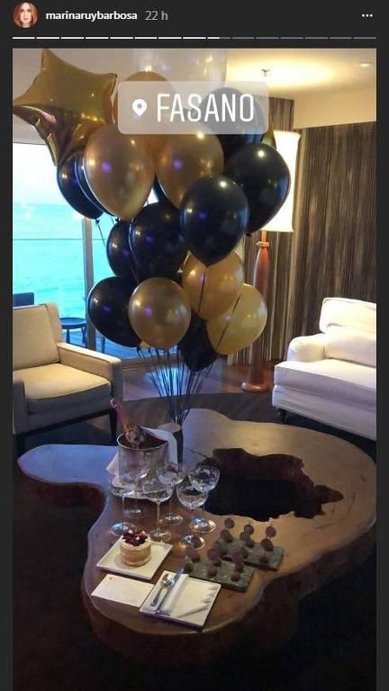 Preparativos para festa Marina Ruy Barbosa, no hotel Fasano, no Rio