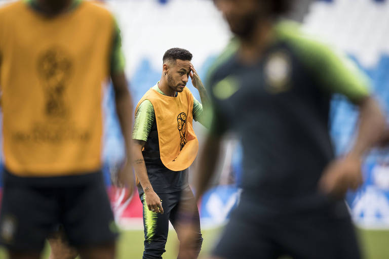 Treino da seleção brasileira na Arena Samara