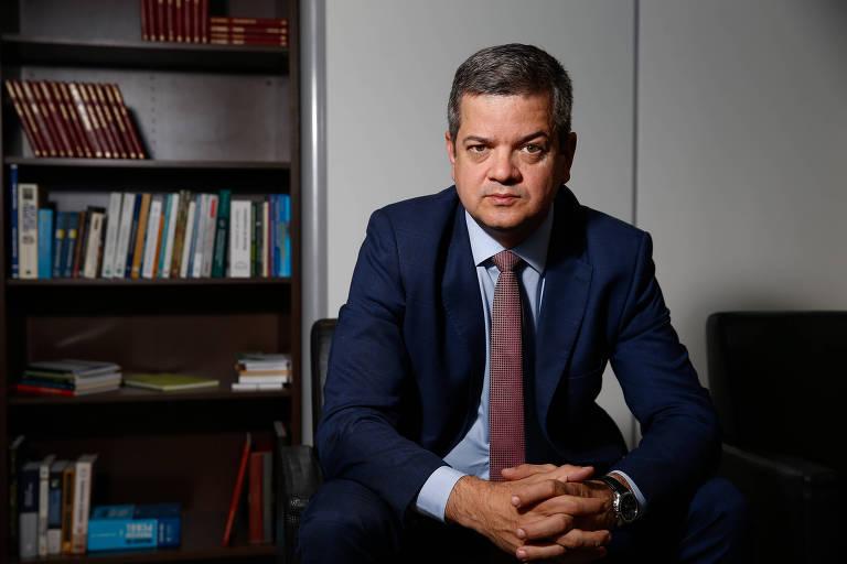 O presidente do Cada, Alexandre Barreto, em seu gabinete em Brasília