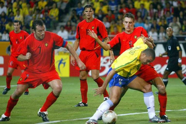 Único duelo entre Brasil e Bélgica em Copas foi na rota do penta 22d2f751e690b